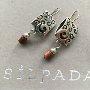 Silpada .925 Swirl Sandstone dangle earrings W0895